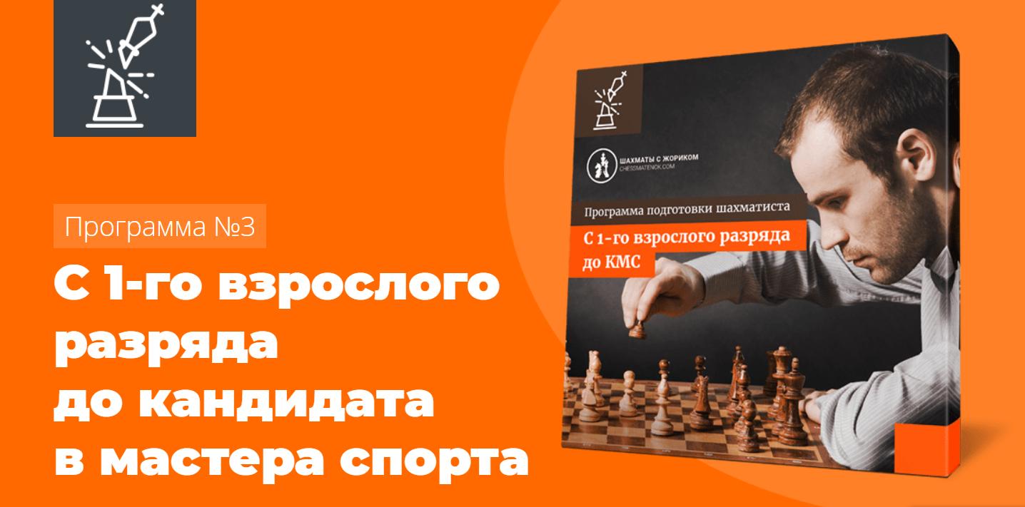 Программа №3 - С 1 взрослого разряда до КМС по шахматам